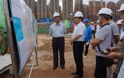 赵红明检查江南污水处理厂水质提标及三期工程建设
